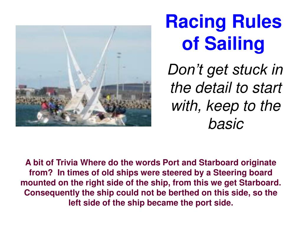 racing rules of sailing l.
