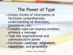 the power of type