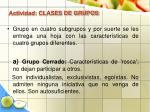 actividad clases de grupos38