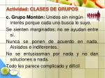 actividad clases de grupos40