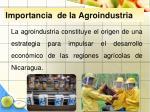 importancia de la agroindustria