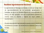 realidad agroindustrial nacional