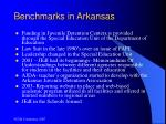 benchmarks in arkansas
