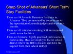 snap shot of arkansas short term stay facilities