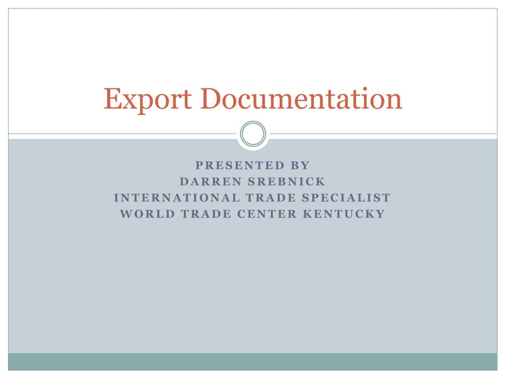 export documentation l.