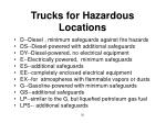 trucks for hazardous locations