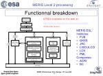 functionnal breakdown