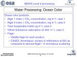 water processing ocean color