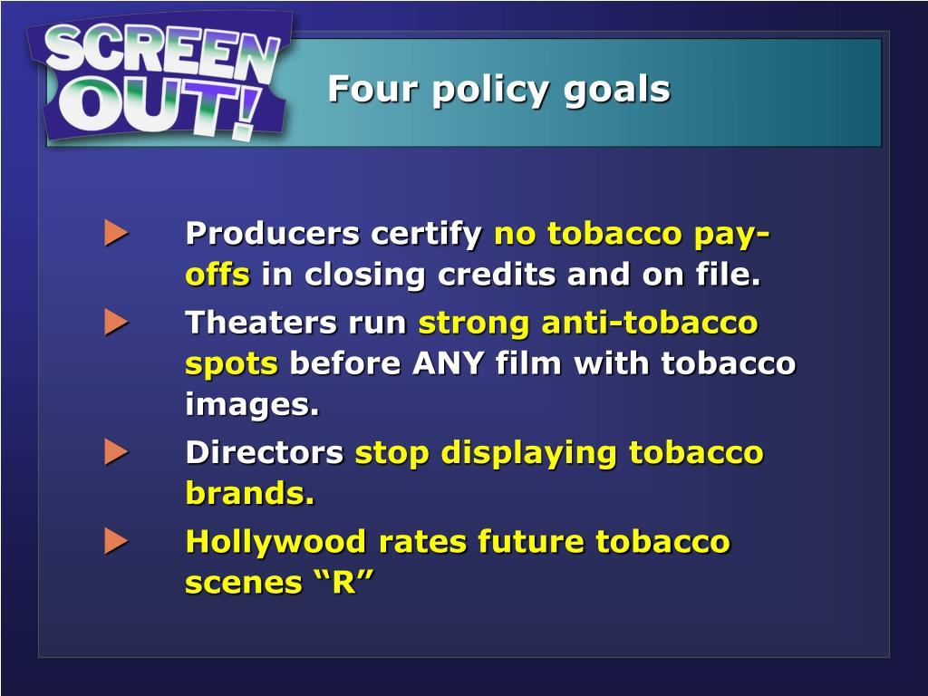 Four policy goals