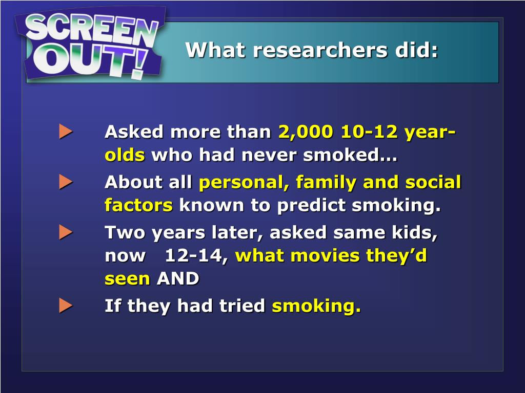 What researchers did: