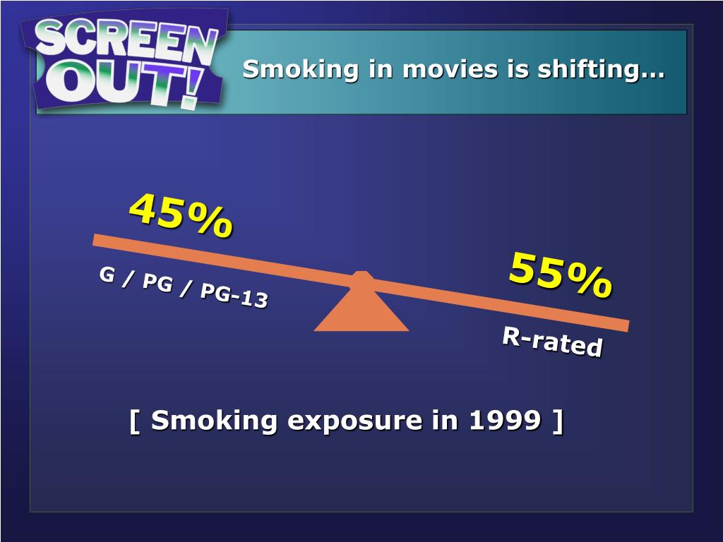 Smoking in movies is shifting…
