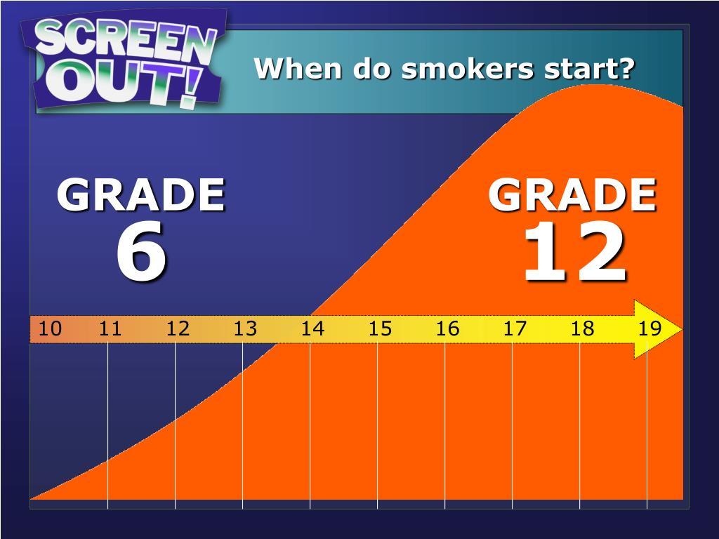 When do smokers start?