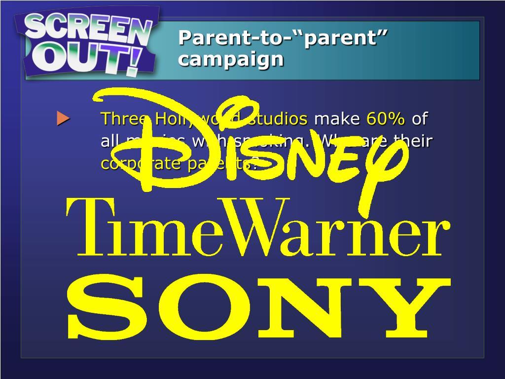 """Parent-to-""""parent"""" campaign"""
