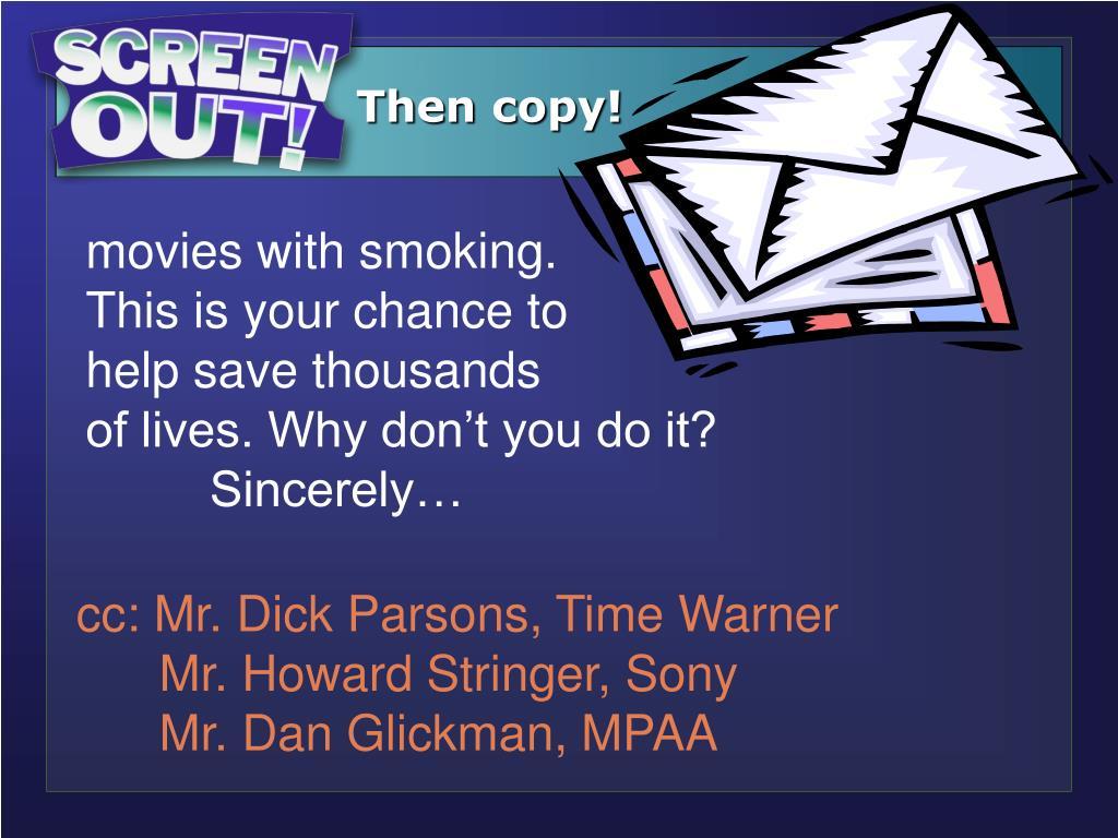Then copy!