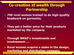 co creation of wealth through partnership