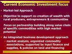 current economic investment focus