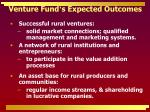 venture fund s expected outcomes