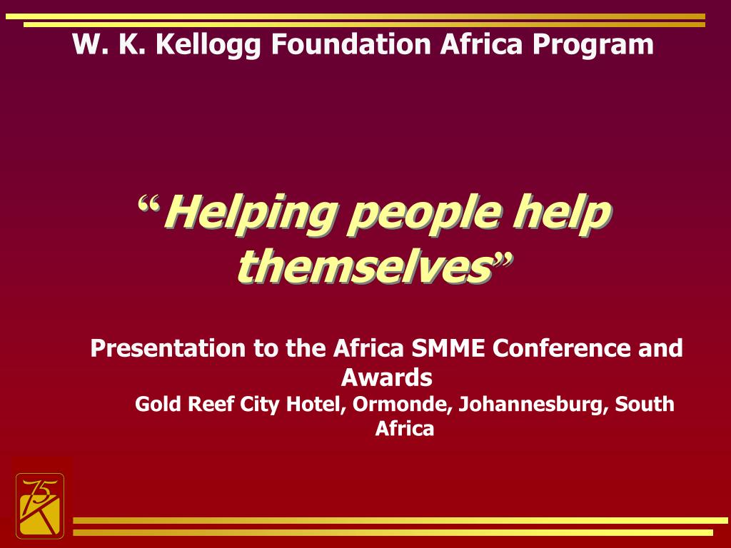 w k kellogg foundation africa program l.