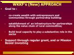 wkkf s new approach