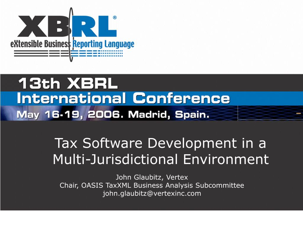 tax software development in a multi jurisdictional environment l.