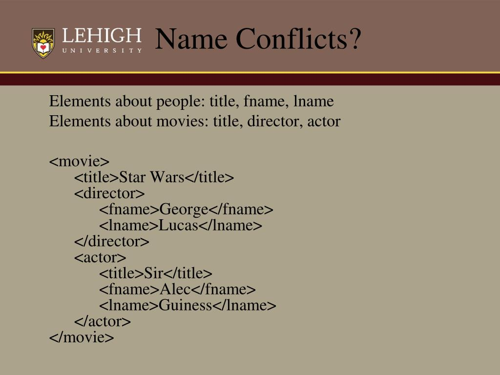 Name Conflicts?