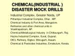 chemical industrial disaster mock drills
