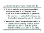 comparing growth in revenues ii