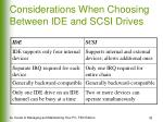 considerations when choosing between ide and scsi drives