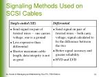 signaling methods used on scsi cables