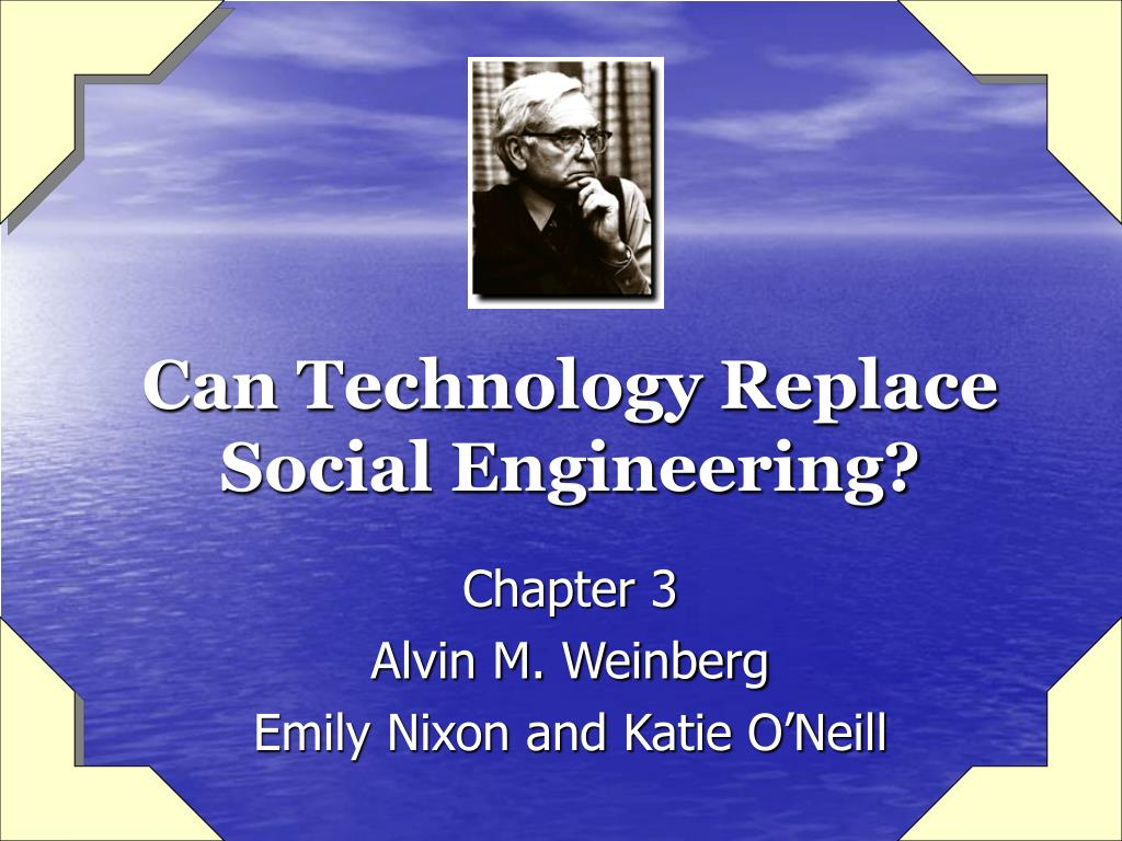 can technology replace social engineering l.