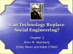 can technology replace social engineering