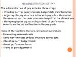 administration of pay