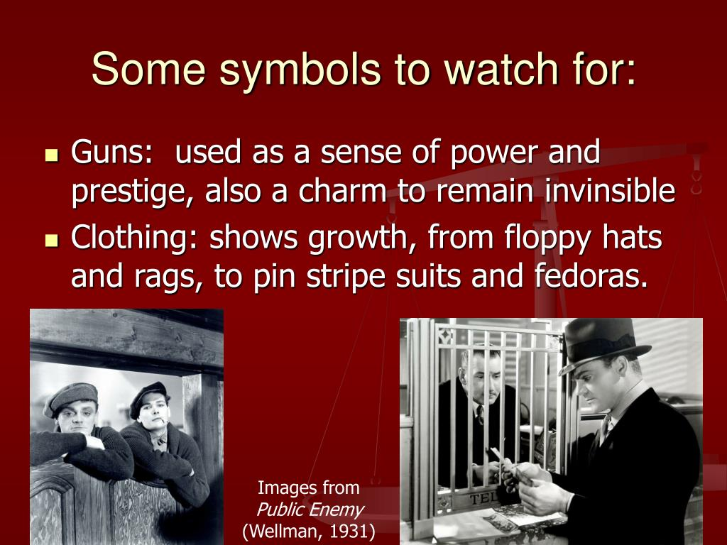 Some symbols to watch for: