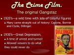 the crime film the original gangstaz