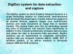 digidoc system for data extraction and capture