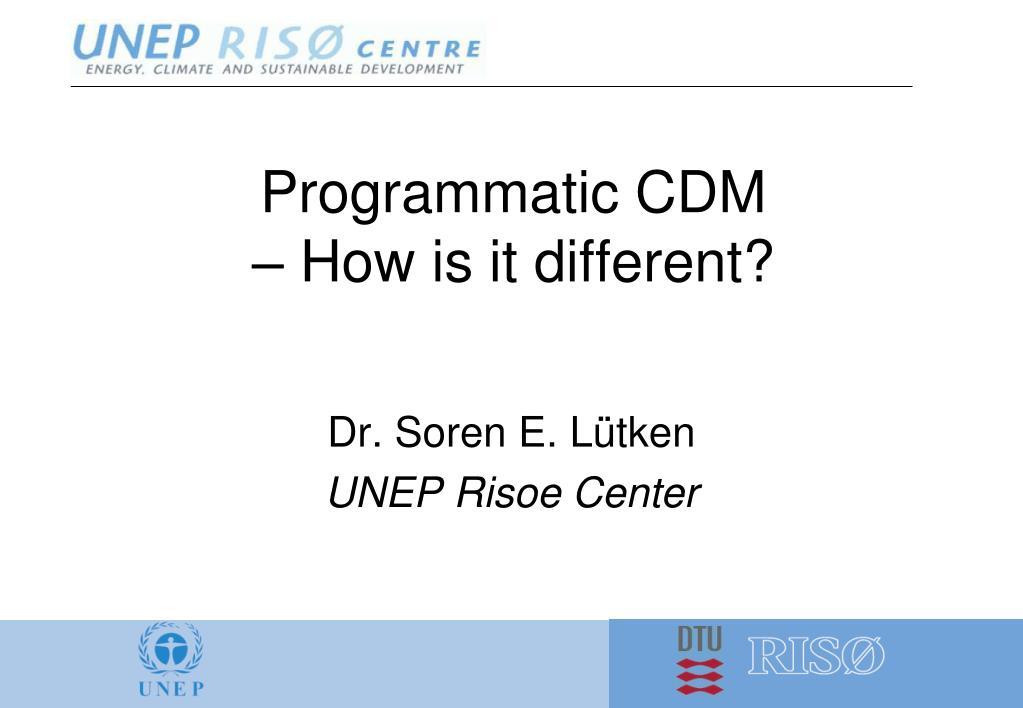 programmatic cdm how is it different l.
