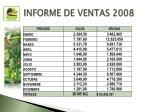 informe de ventas 2008