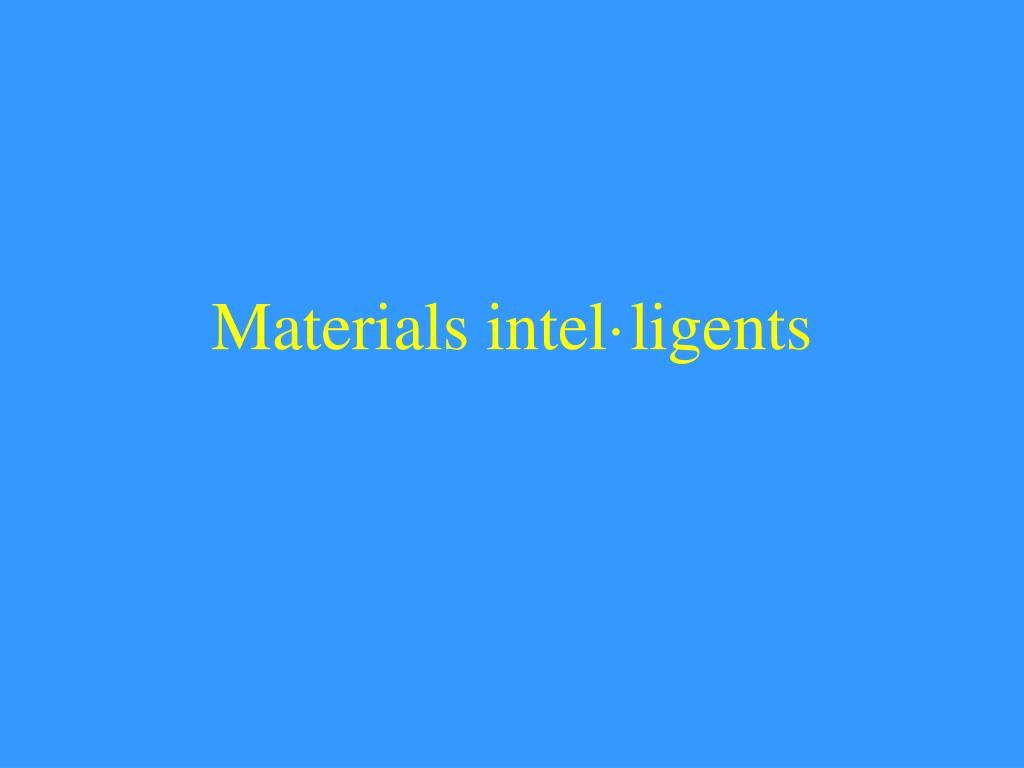 materials intel ligents l.