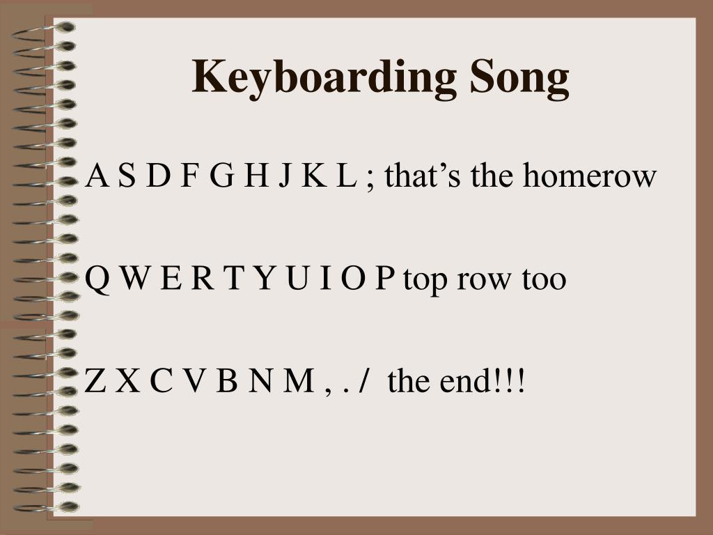 keyboarding song l.