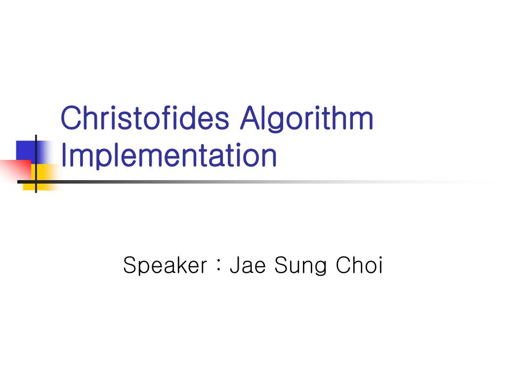 christofides algorithm implementation l.
