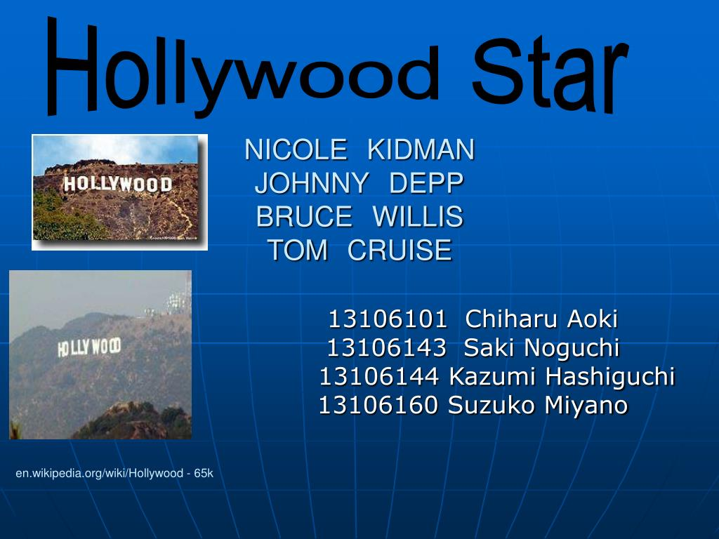 nicole kidman johnny depp bruce willis tom cruise l.