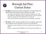 borough jail plan current status