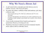 why we need a bronx jail