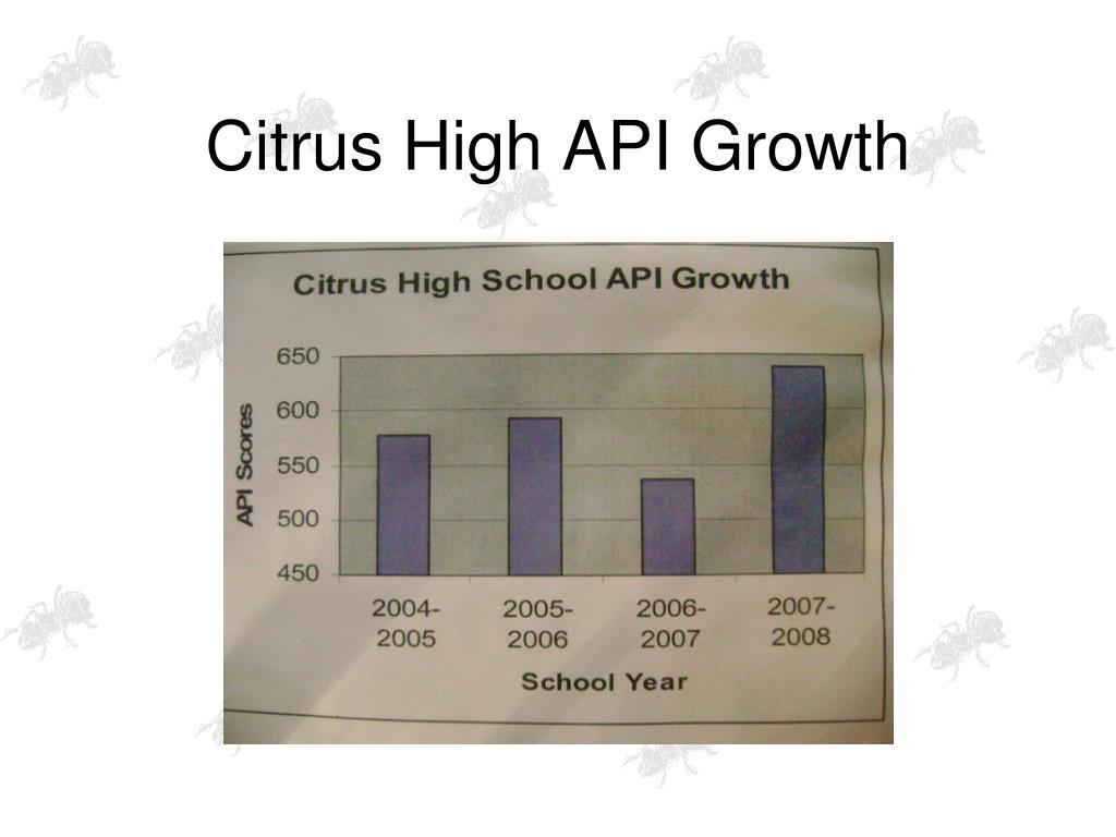 Citrus High API Growth