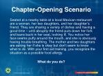 chapter opening scenario