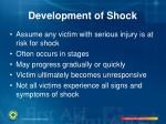 development of shock