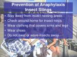 prevention of anaphylaxis insect stings