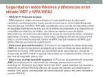 seguridad en redes wireless y diferencias entre cifrado wep y wpa wpa221