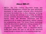 about ims 21