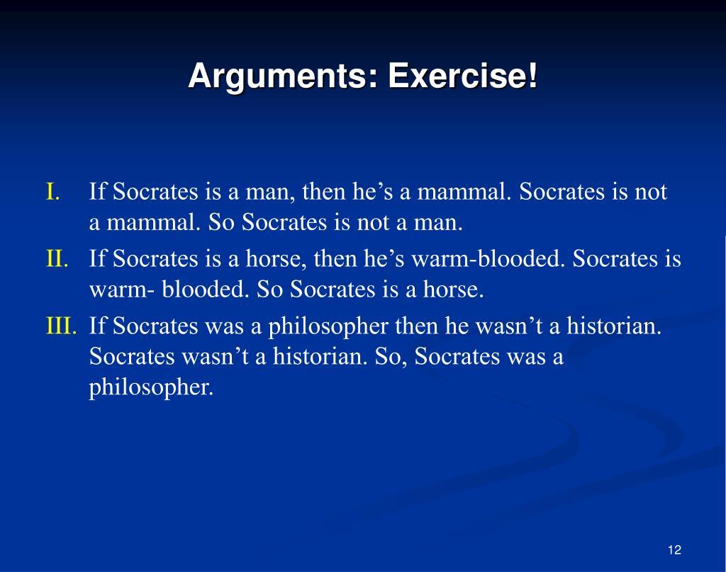 Arguments: Exercise!